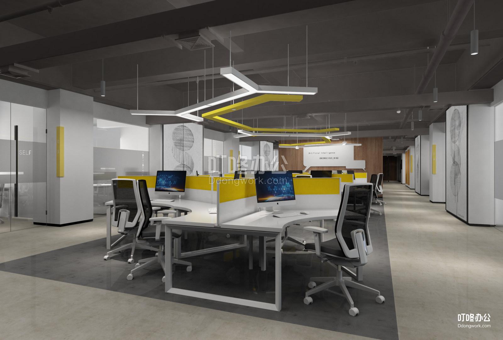 大型办公室 碧桂园人工智能产业示范基地
